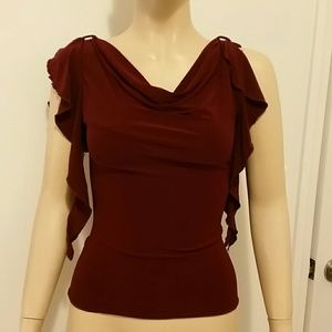 Beautiful burgundy top size small